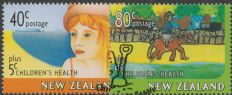 NZ SG2086-7 Children's Healthy Living health stamps set of 2